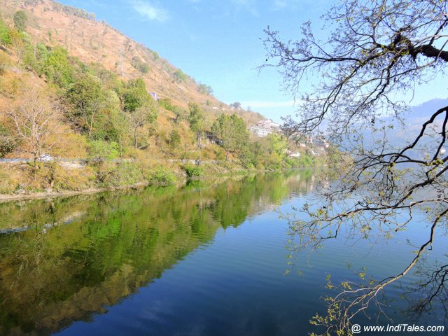 Reflections in Bhimtal Lake
