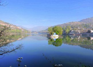 Bhimtal lake landscape