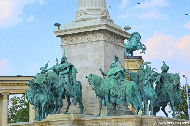 7 Tribes that created Hungary - Heros Square - Budapest