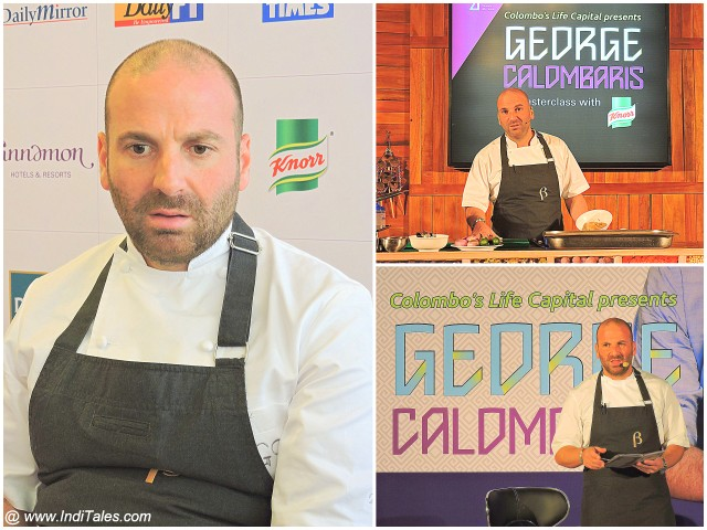 George Calombaris in his Chef Attire at each appearance in Colombo