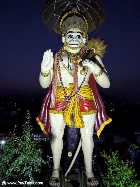 Hanuman statue at Bhakti Dham near Naukuchiatal