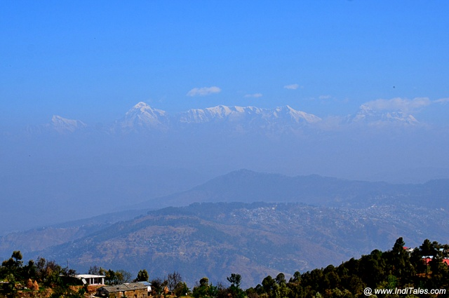 Landscape view of Himalayas at Mukteshwar