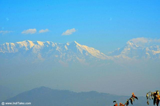 Himalayan peaks closeup view