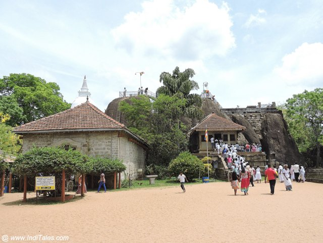 The Isurumuniya Rock Temple near Anuradhapura