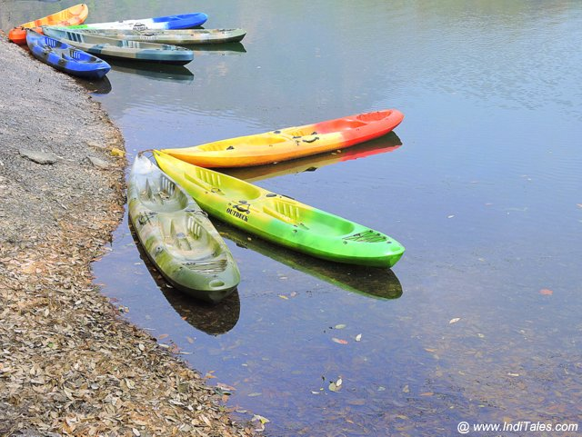 Kayaking boats at Sattal