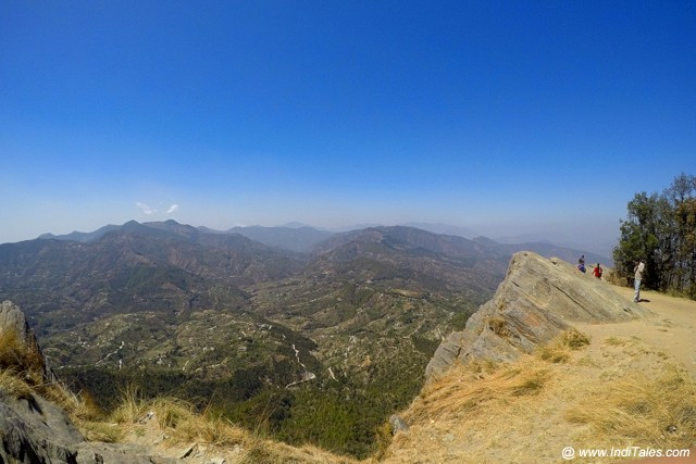 Steep valley view Mukteshwar