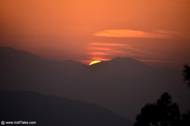 Sunset Closeup view