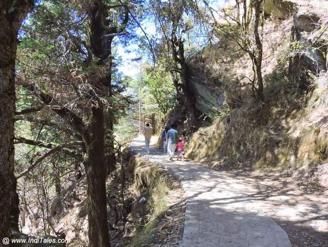 Walking pathway at Mukteshwar Dham