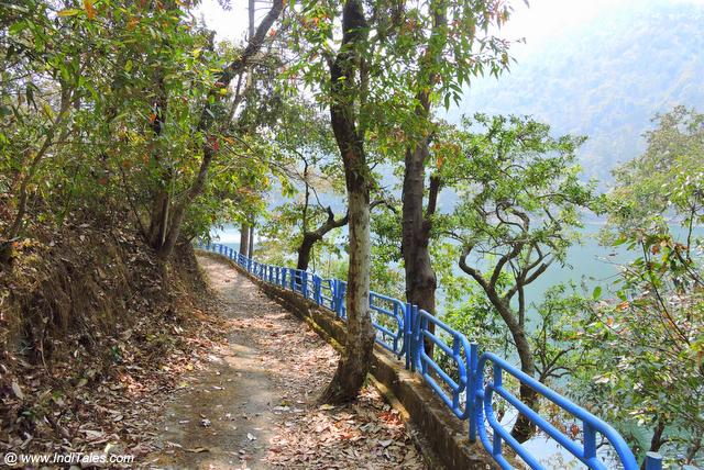 Walkway around Sattal Lake, Kumaon