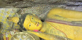 Buddha in Mahaparinirvana State at Dambulla Caves - Sri Lanka