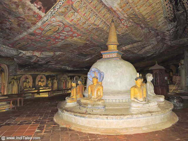 Stupa at the biggest cave at Dambulla