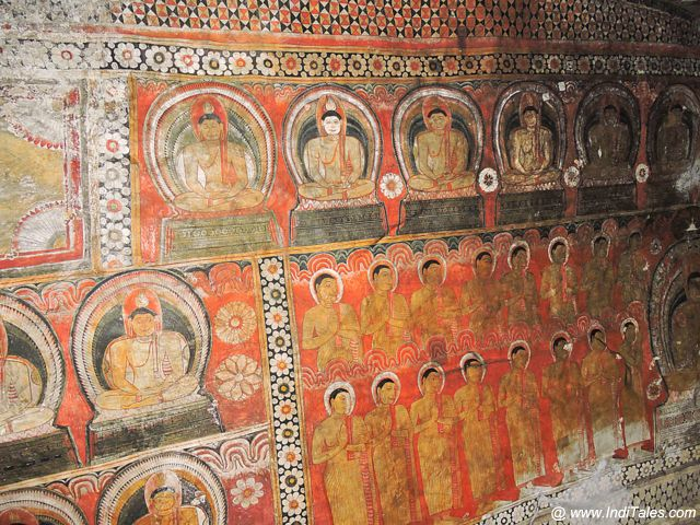 Wall Murals at Dambulla Caves