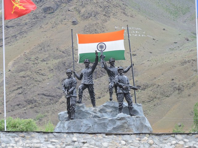 Victory Sculpture at Veer Bhumi - Drass War Memorial - Kargil, India