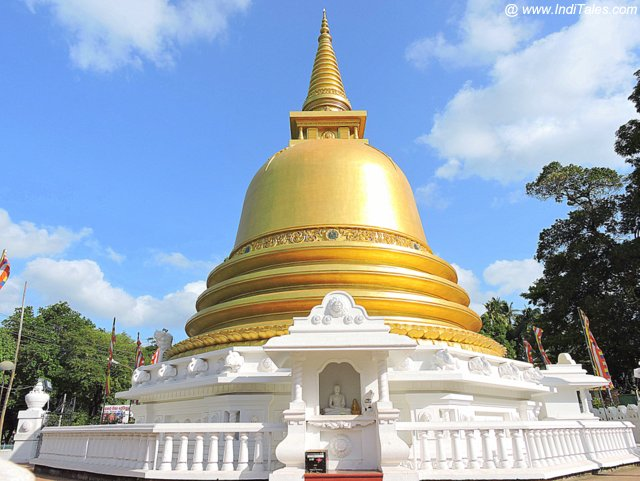 Golden Stupa at the base of Dambulla Rock Temple - Sri Lanka
