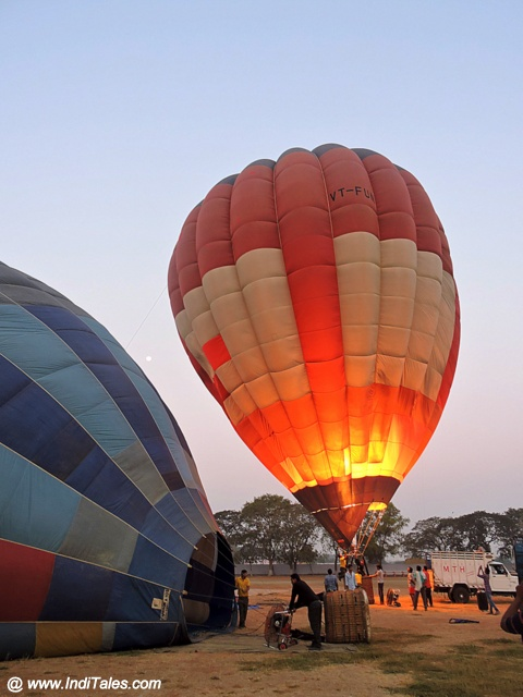 Hot Air Balloon ready for take-off