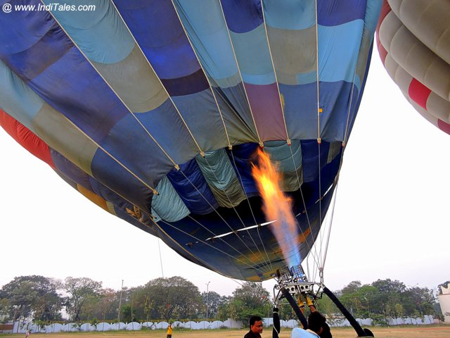 Hot Air Balloon getting ready at Amaravati