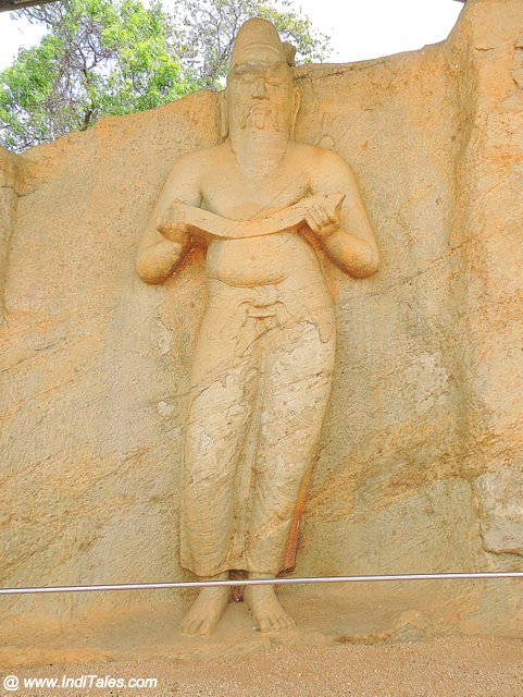 Stone Carved image of King Parakramabahu I - Polonnaruwa