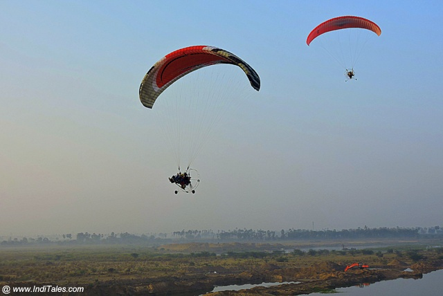 Paramotoring adventure activities at Amaravati