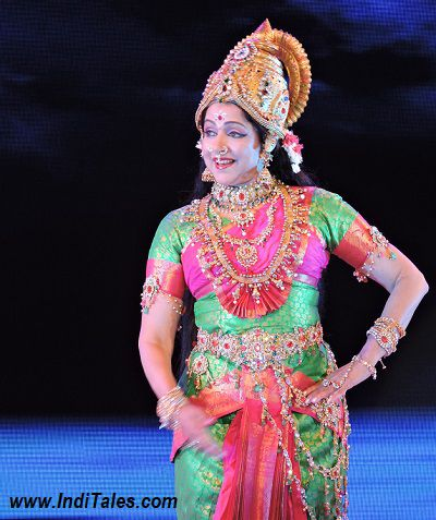 Hema Malini performing at Amaravati Global Music Festival