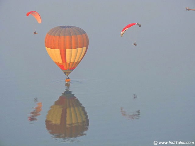 Adventure activities of Hot Air Balloon ride & Paragliding at Amaravati