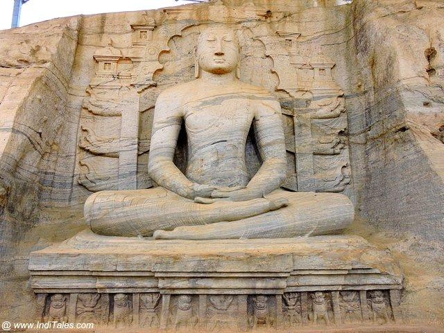 Buddha in Dhyan Mudra - Gal Vihara - Polonnaruwa