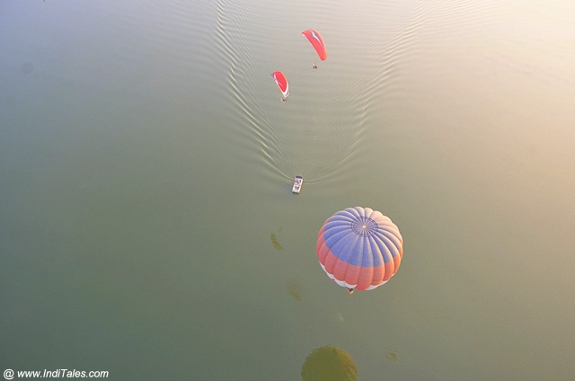 Top view of adventure activities captured during my Hot Air Balloon ride
