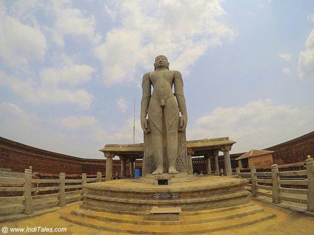 Bahubali Gomateshwara Statue, Karkala, landscape view