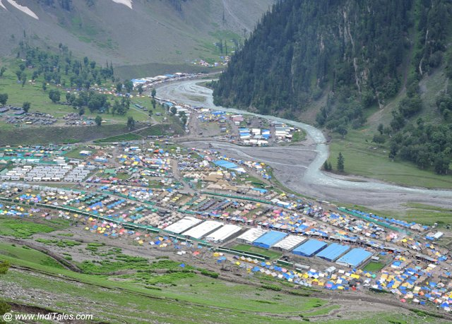 Amarnath Yatra Camp at Baltal - Kashmir Valley