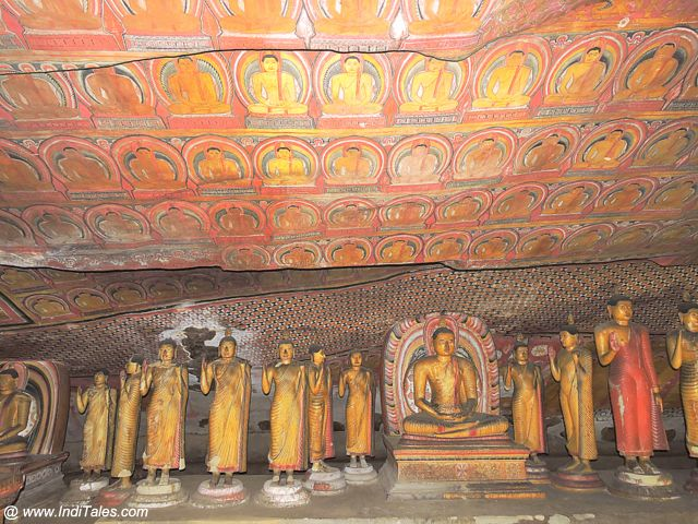 Colorful Buddha Statues & Wall Murals