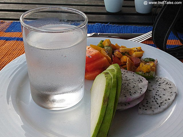 Coconut Water & Fruits - always there for a Vegetarian