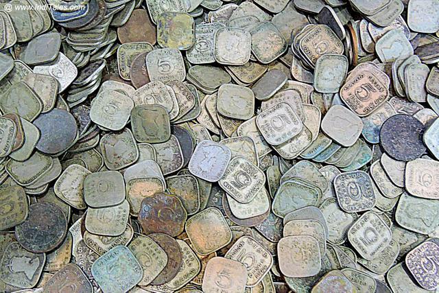 Coins at an Antique Shop