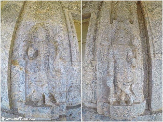 Dwarpalakas at Chaturmukha Basadi