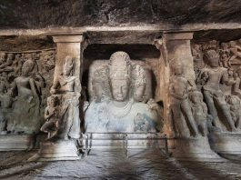 Elephanta Caves - Trimurti Sculpture
