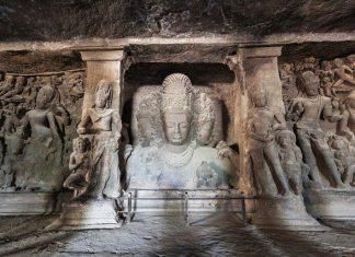 Elephanta Caves - Trimurti Sculpture