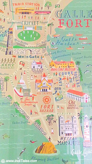 Map of Galle City & Fort