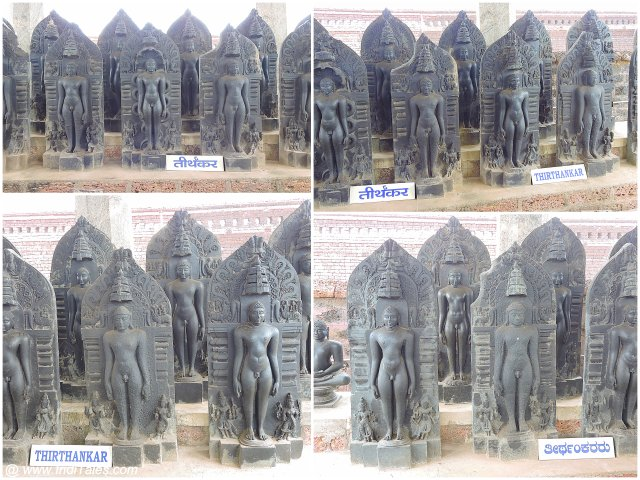 Collage of several Jain Tirthankaras statues at Karkala