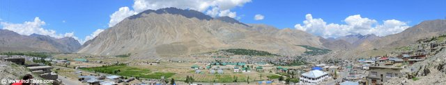 Panorama of Kargil Town by Drass River