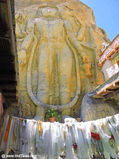 Maitrayee Buddha at Mulbekh Monastery - Ladakh
