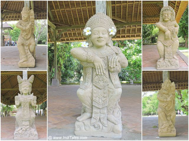 Images of Deities at Taman Ayun Temple - Bali