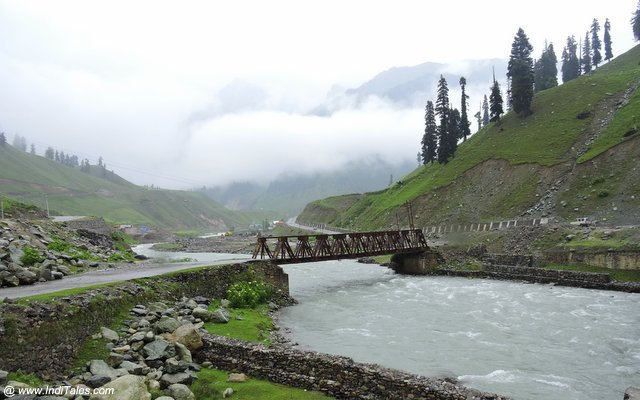 A bridge across Sind River at Sonamarg - Kashmir Valley