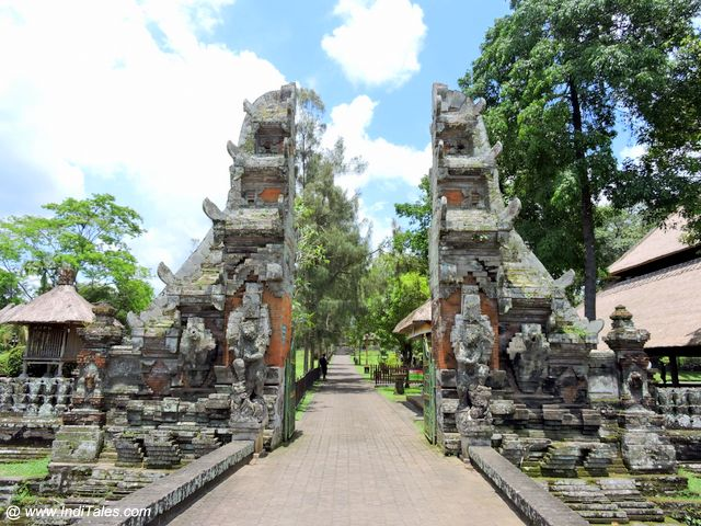 Typical Bali Hindu Temple Entrance