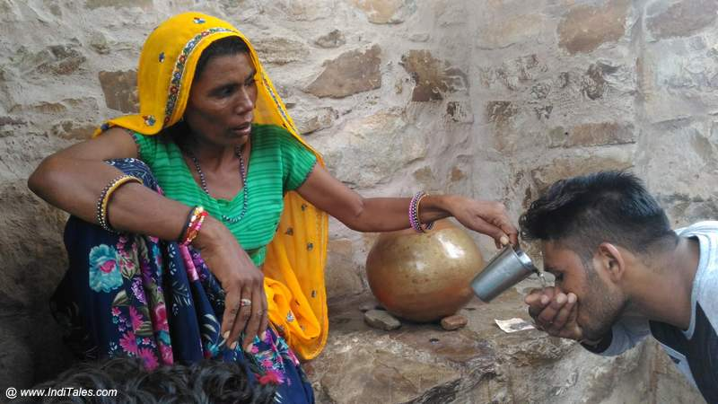 Free Drinking Water being served from Earthen Pots
