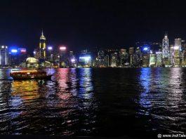 Colorful Hong Kong Skyline - Cityscape