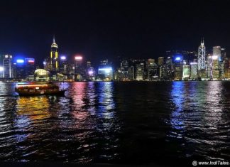 Colorful Hong Kong Skyline - Cityscape