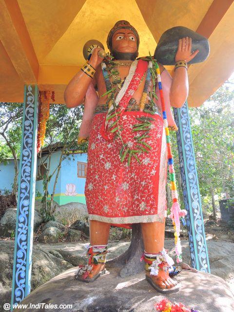 Hanuman Statue at Rumassala Forest in Sri Lanka