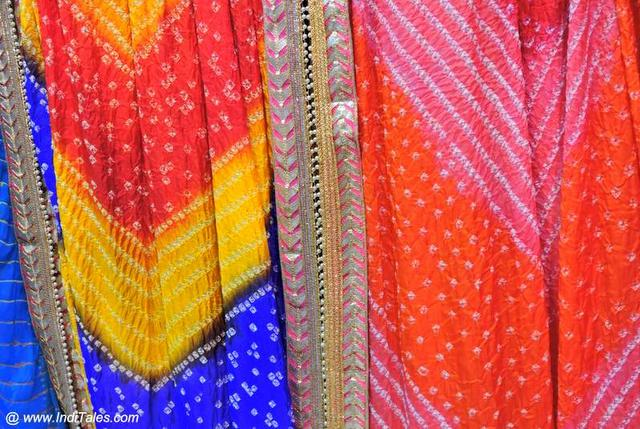 The Bandhani Work Fabrics from Jaipur