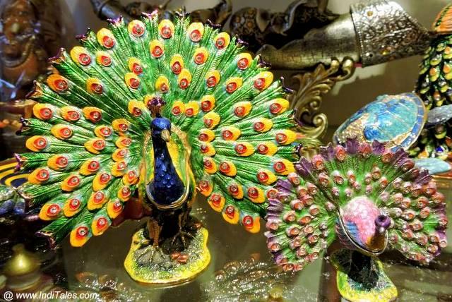 Meenakari or Enamel Work Peacock - Jaipur Souvenirs