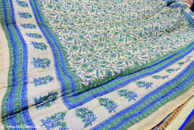 Jaipuri Razai or thin lightweight quilt
