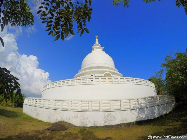 Shanti Stupa at Rumassala Forest in Sri Lanka
