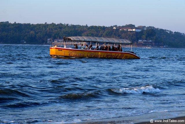 Popular Tourist Boat rides at Miramar beach